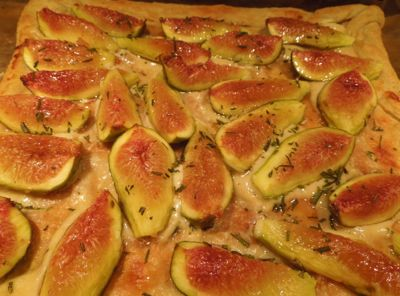 Honeyed Fig and Goat Cheese Tart